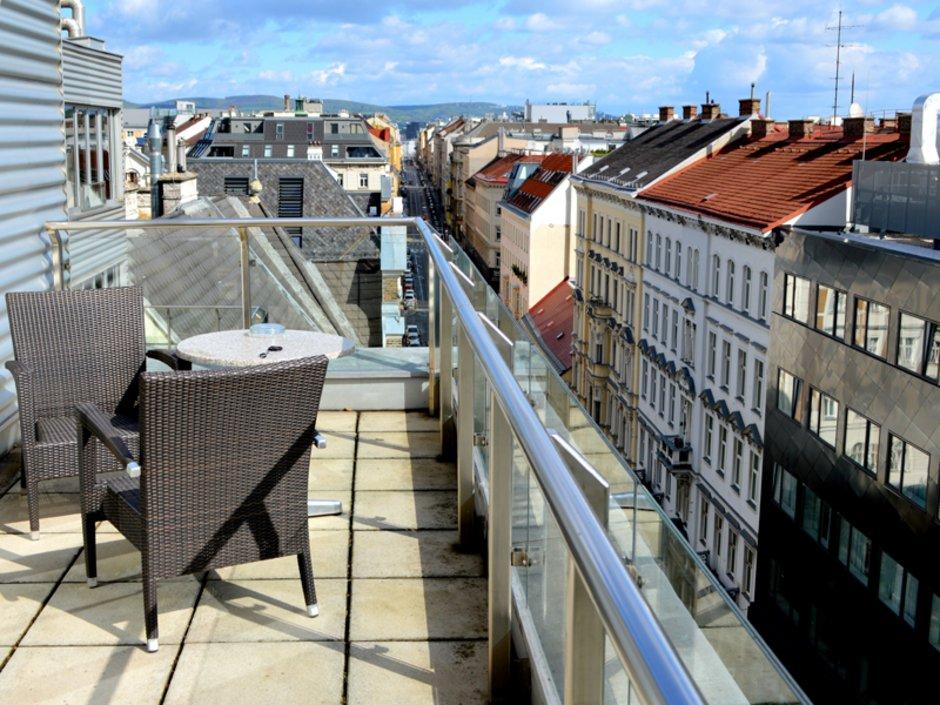 Bieterverfahren, Immobilienverkauf, Dachterrasse