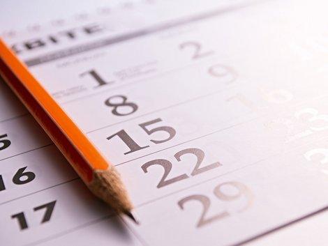 Verjährungsfristen, Bleistift auf Kalender, Foto: sergign/fotolia.com